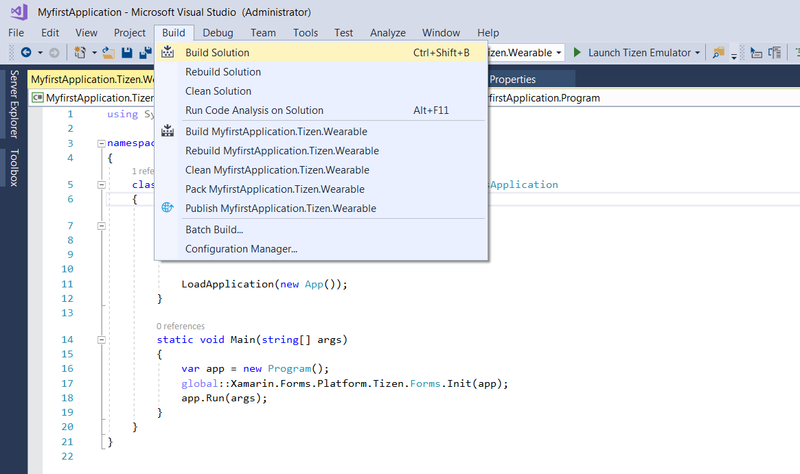 C# Wearable App Development (1/3)