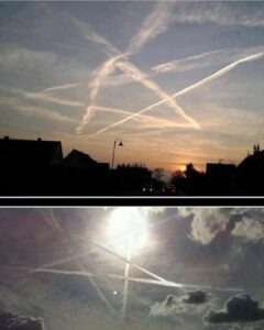 CIA Ritual Chemtrails In Shape Of Pentagram, Ingredients Include Barium & Aluminum (Ba +Al = Baal)…