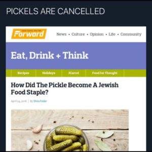 (((PICKLES))) ARE FUCKIN CANCELLED But hey what do I kno….Just keep putting those salty kosher green ogre dicks in you…