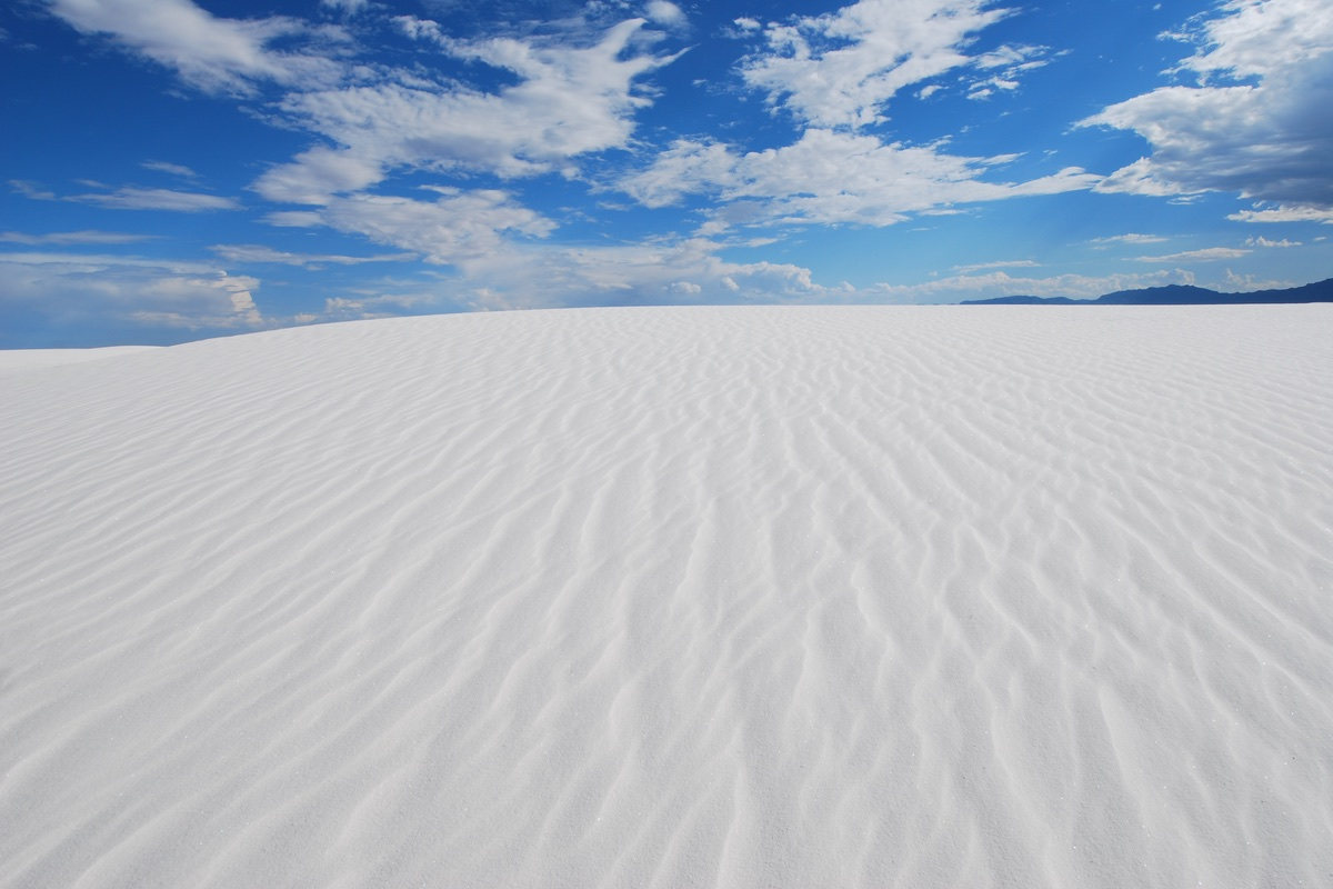 View along the Alkali Flat Trail in White Sands National Monument.