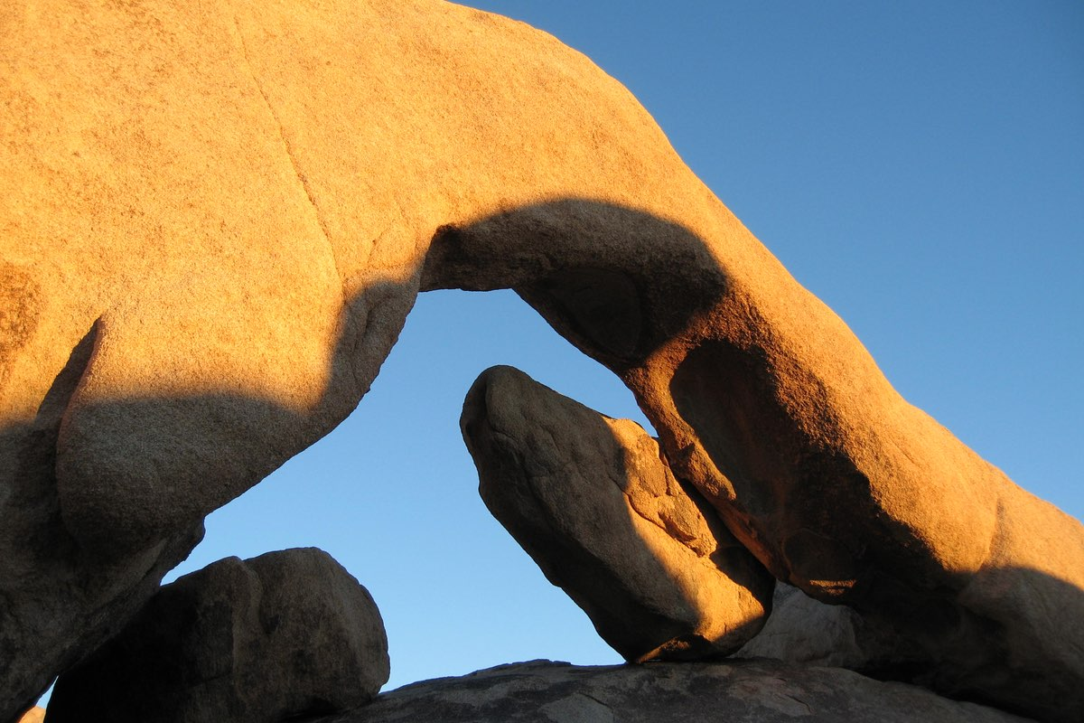 Arch Rock in Joshua Tree National Park.