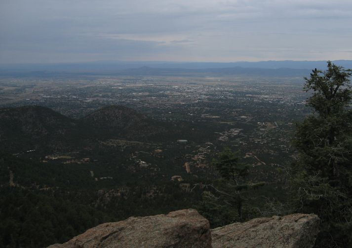 View from Atalaya Mountain Trail near Santa Fe New Mexico