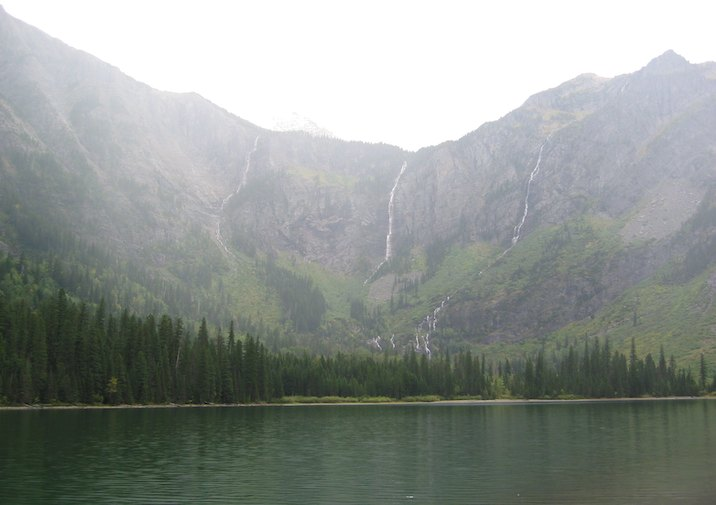 Avalanche Lake in Glacier National Park.