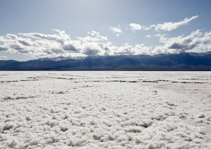 Badwater Basin in Death Valley National Park, California.