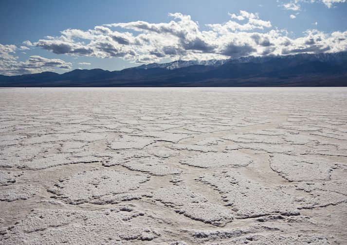 The lowest place on earth; Badwater Basin in Death Valley National Park.