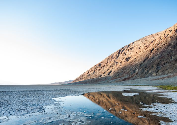 Badwater Basin in Death Valley National Park, CA.
