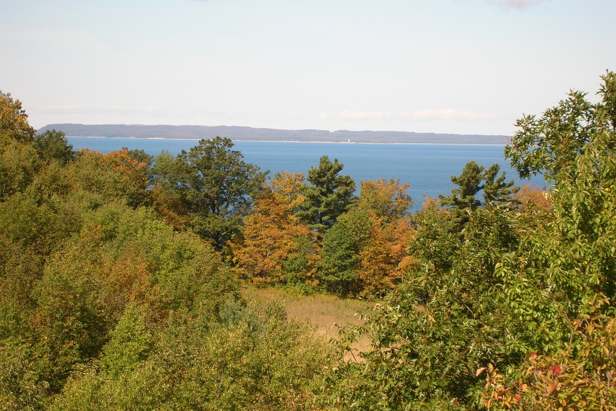 Lookout Point from the Bay View Trail in Sleep Bear Dunes National Lakeshore.