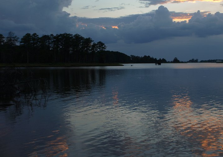 Sunset in Belle Isle State Park in Virginia.