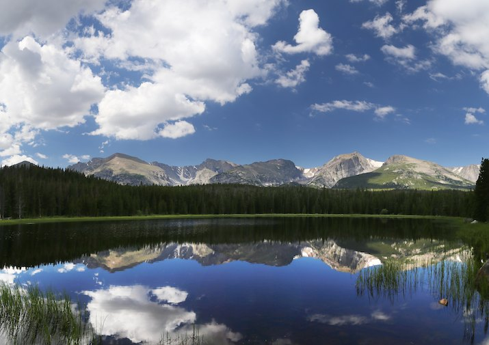 Bierstadt Lake in Rocky Mountain National Park, Colorado.