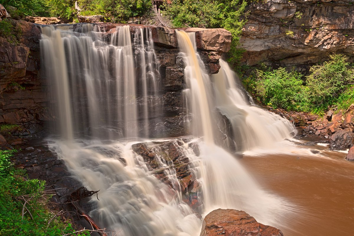 Stunning Blackwater Falls in West Virginia.