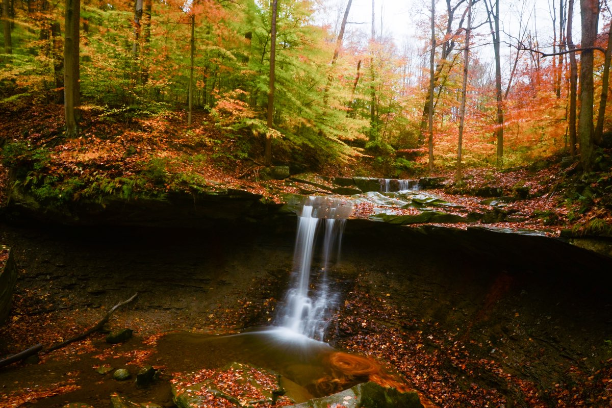 Blue Hen Falls in Cuyahoga Valley National Park.