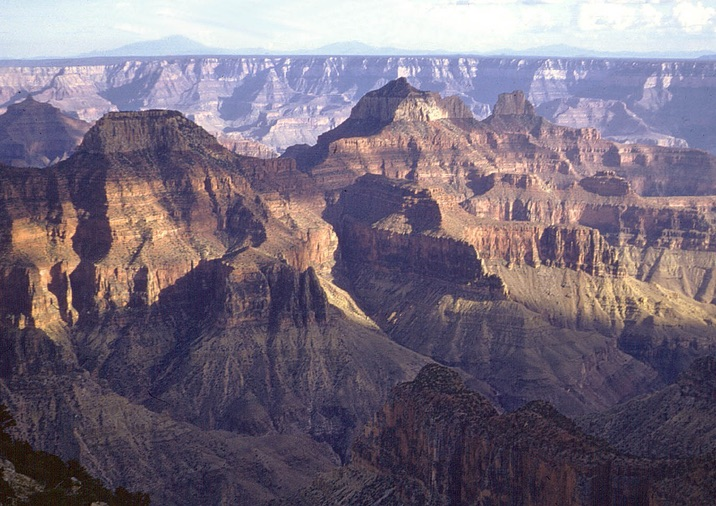 Hiking the Bright Angel Point Trail in Grand Canyon National Park.