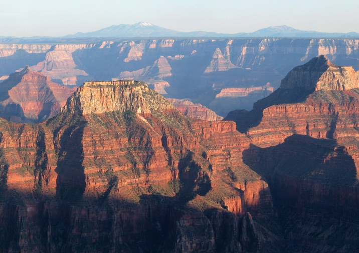 View from Bright Angel Point in the Grand Canyon.
