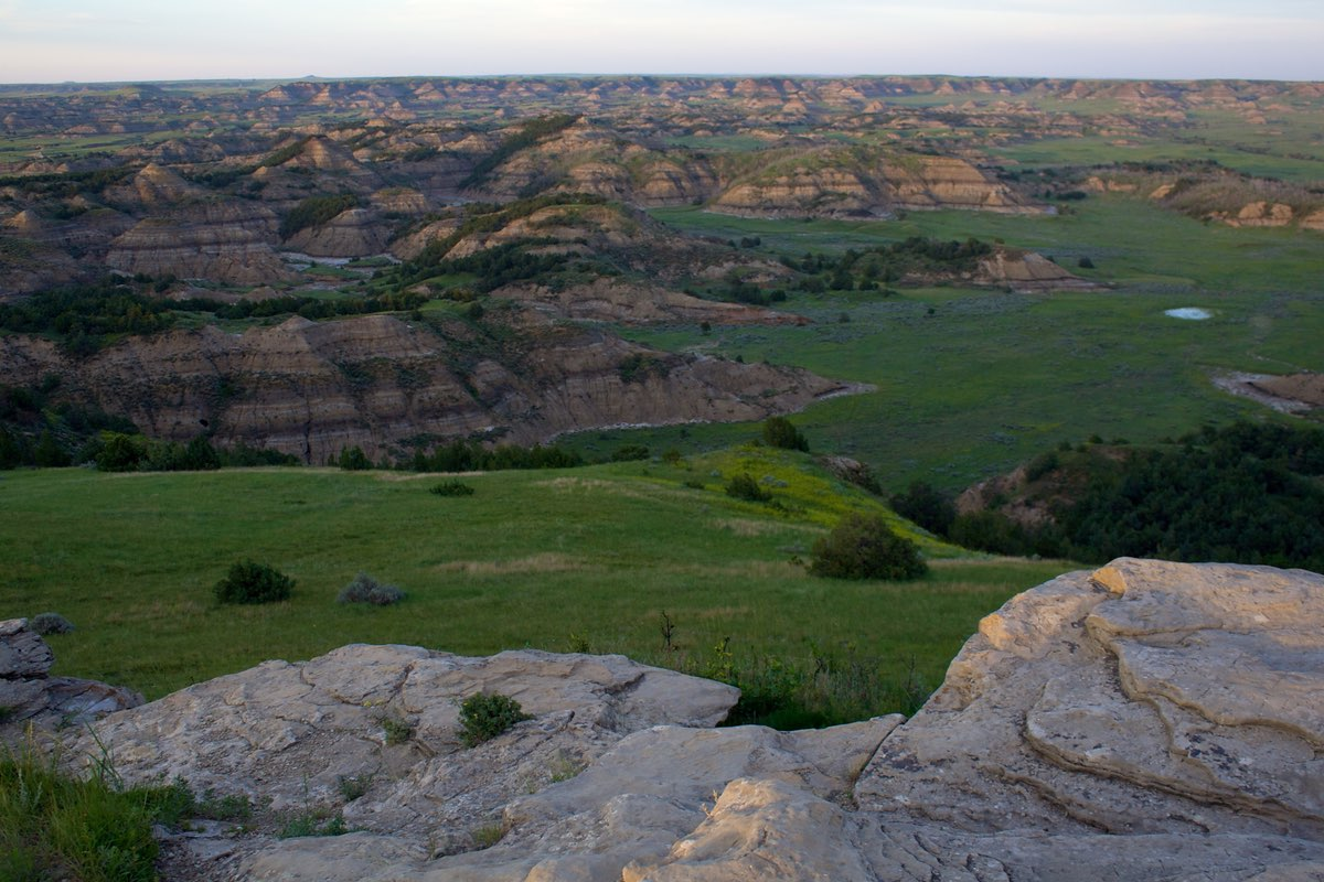 View from the Buck Hill Trail in Theodore Roosevelt National Park.