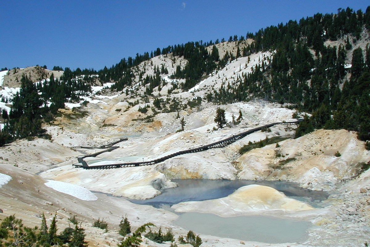 Bumpass Hell in Lassen Volcanic National Park.