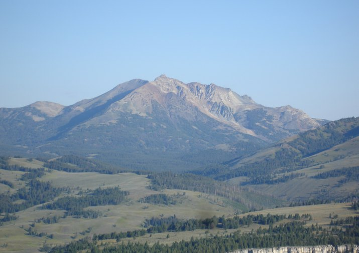 Bunsen Peak in Yellowstone National Park.
