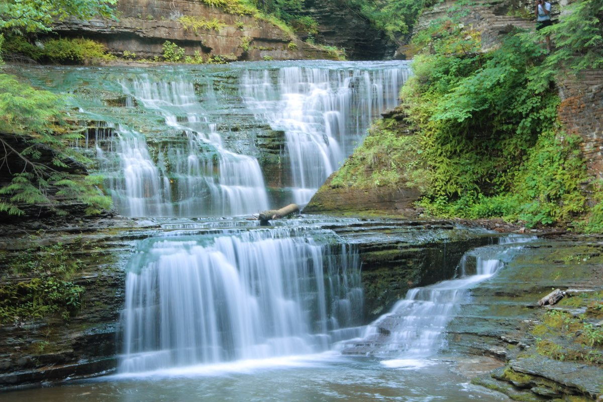 Beautiful Buttermilk Falls State Park.