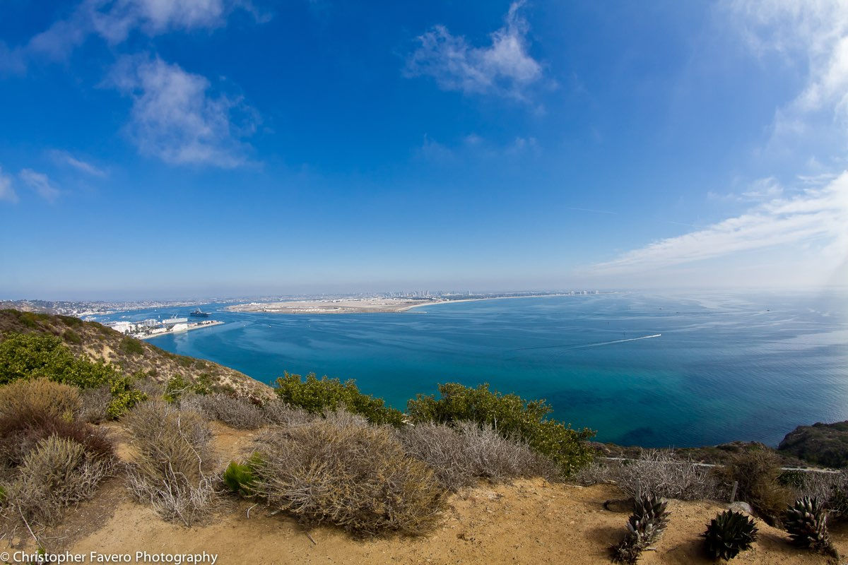 Hiking in Cabrillo National Monument in San Diego California.