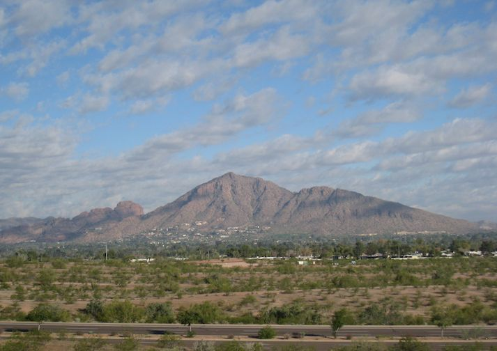 Camelback Mountain in sunny Phoenix Arizona