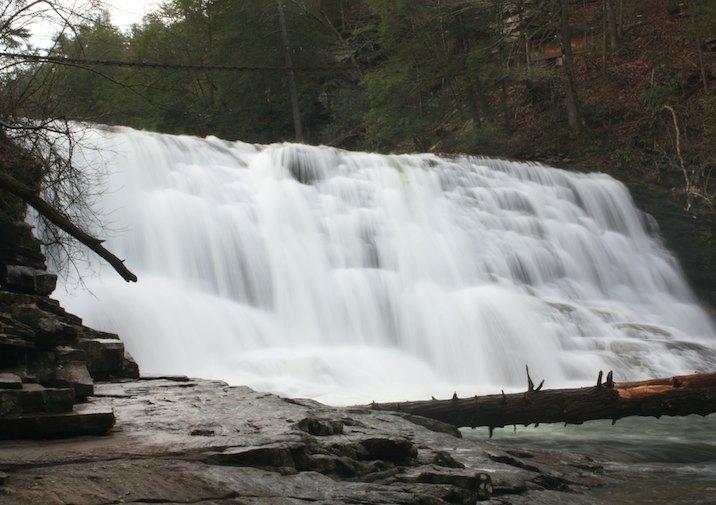 Cane Creek cascade in Fall Creek Falls State Park.
