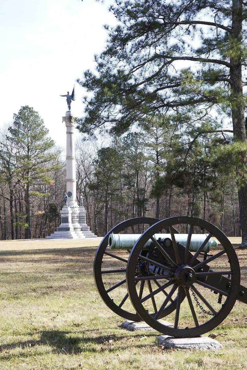 Cannon in Chickamauga and Chattanooga National Military Park in Georgia.