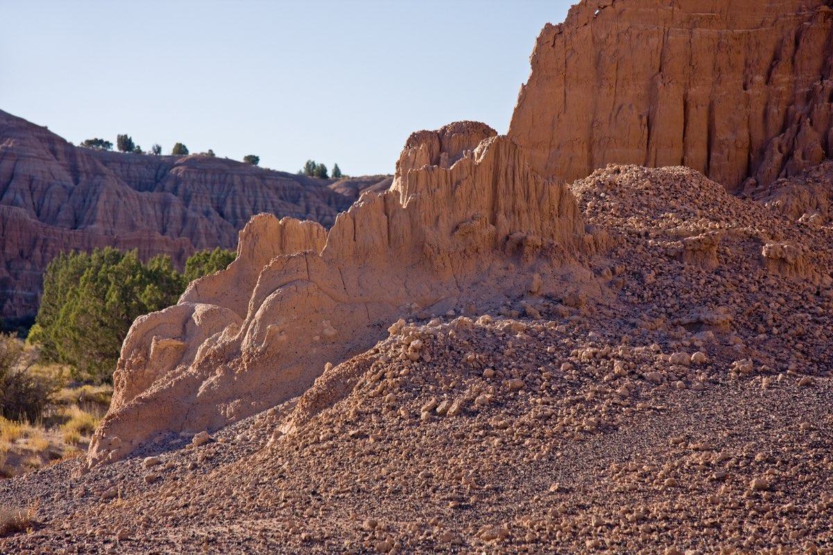 Beautiful Cathedral Gorge State Park in Nevada.