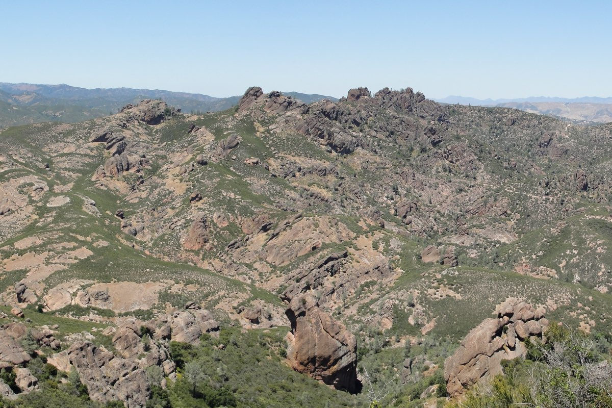 View from the Chalone Peak Trail Pinnacles National Park.