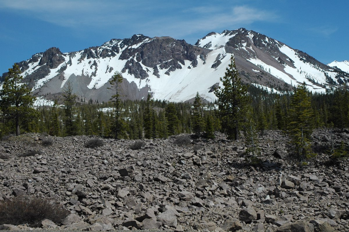 Chaos Crags in Lassen Volcanic National Park.