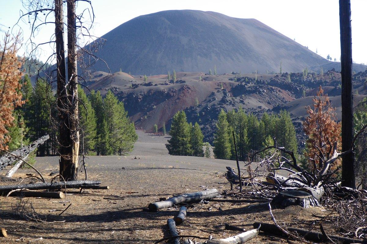 Cinder Cone Volcano in Lassen Volcanic National Park.