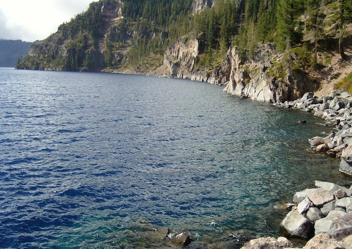 Up close and personal with Crater Lake via the Cleetwood Cove Trail.