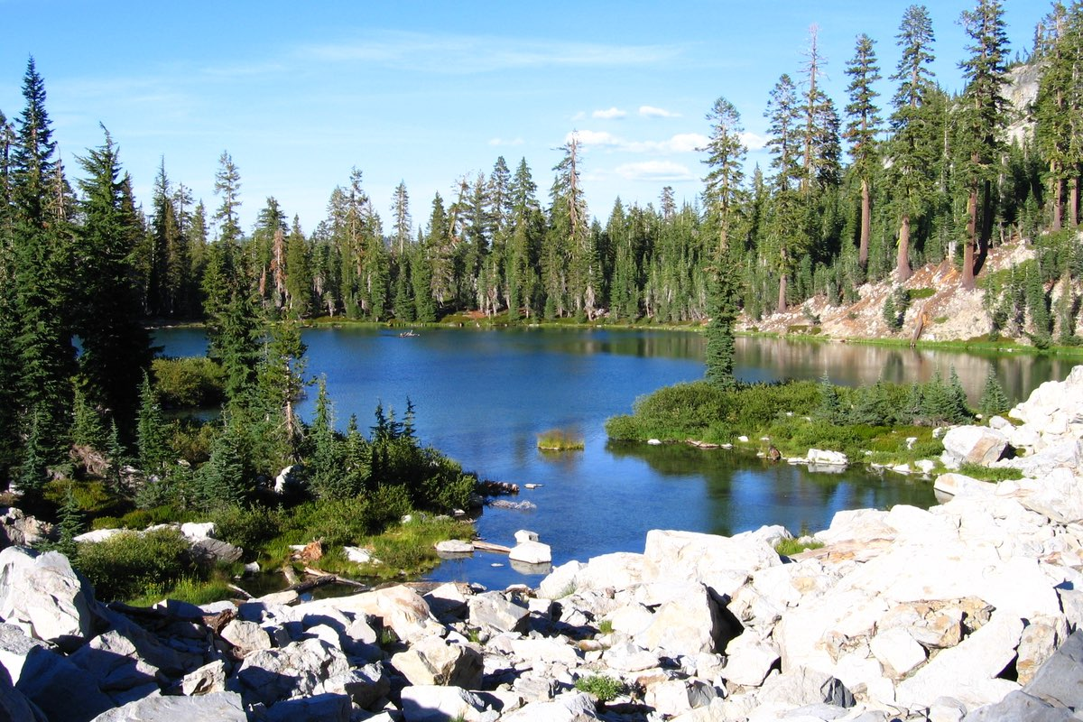Cliff Lake in Lassen Volcanic National Park.