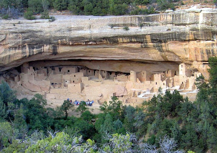 Cliff Palace in Mesa Verde National Park near Durango, Colorado.
