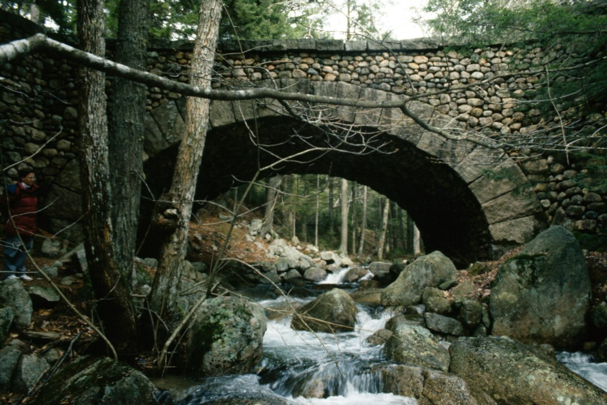 Cobblestone Bridge in Acadia National Park.