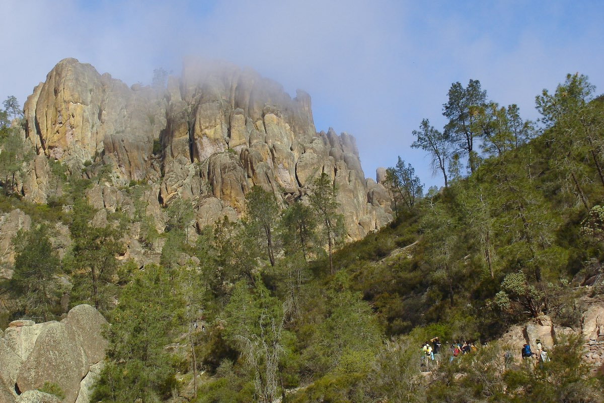 View from the Condor Gulch Trail Pinnacles National Park.