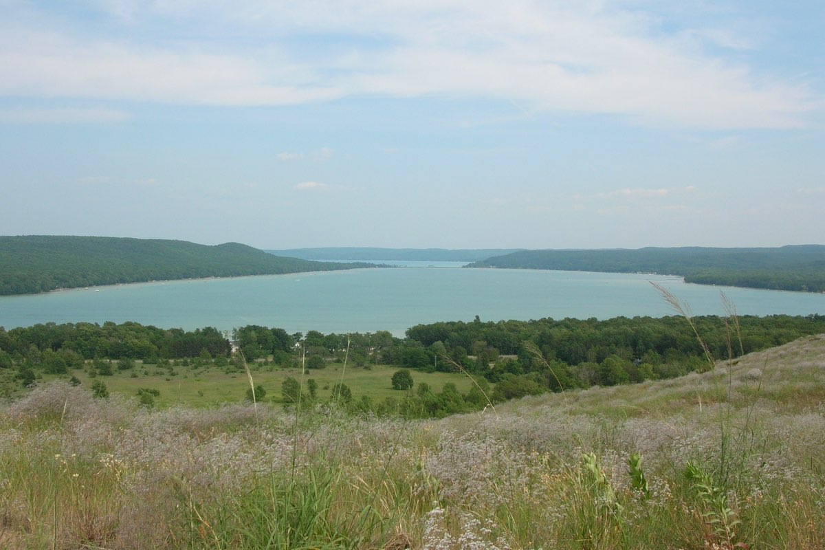 Looking toward Glen Lake from the Cottonwood Trail in Sleeping Bear Dunes National Lakeshore.