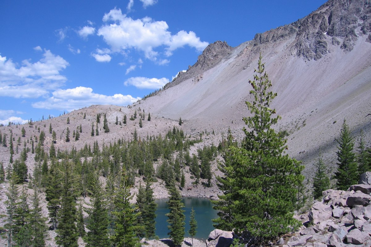 Crags Lake in Lassen Volcanic National Park.