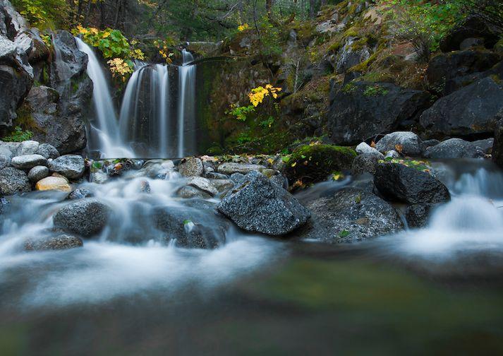 Beautiful Crystal Creek Falls in Whiskeytown NRA near Redding California