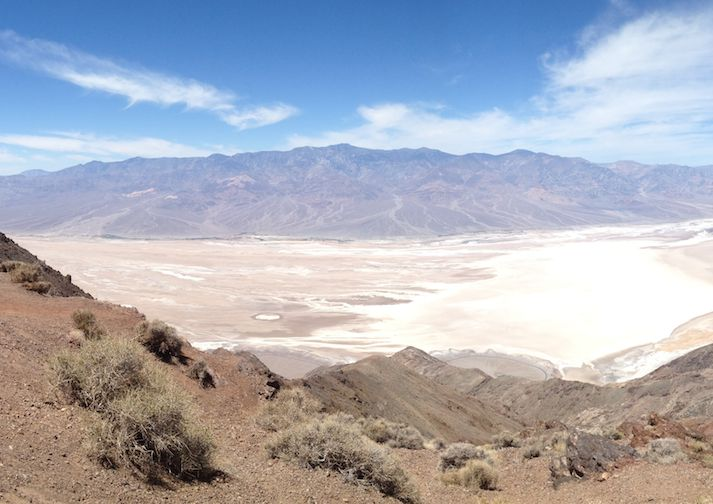 Hiking Dante's Ridge in Death Valley National Park, California.