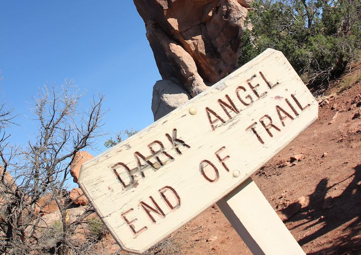 Hiking Devil's Garden in Arches National Park.