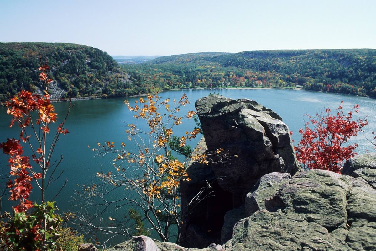 Beautiful Devil's Lake State Park in Wisconsin.