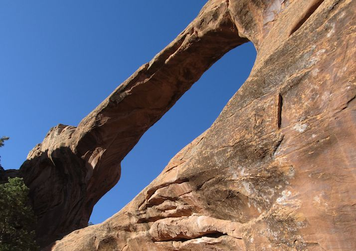 Double O Arch in Arches National Park.