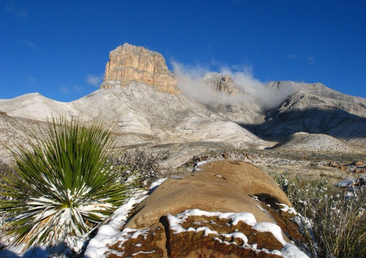 El Capitan on a winter day in Guadalupe Mountains National Park, Texas.