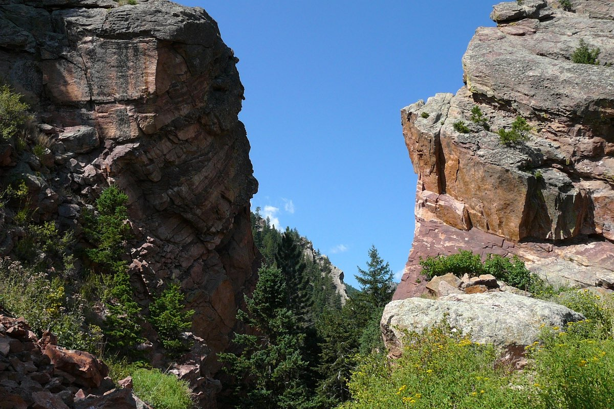 Rugged Eldorado Canyon State Park near Boulder Colorado.
