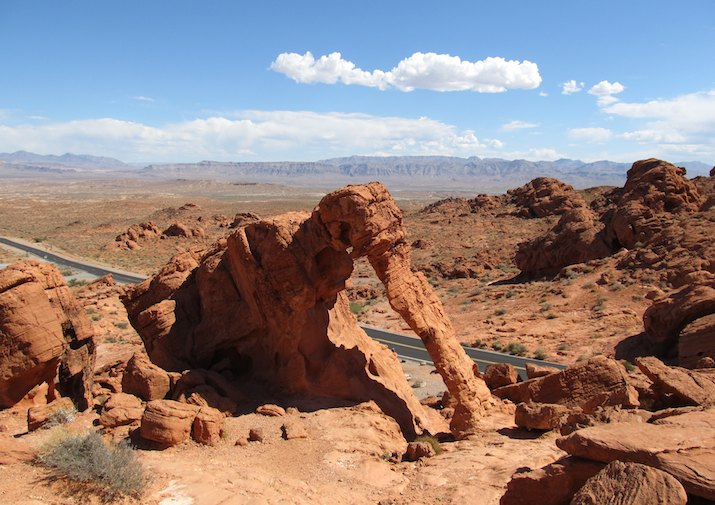 Elephant Rock in Valley of Fire State Park near Las Vegas, Nevada.