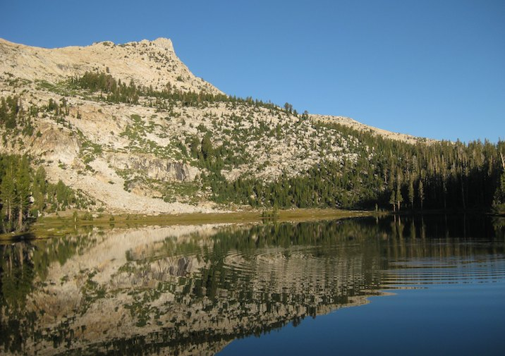 Beautiful Elizabeth Lake in Yosemite National Park.