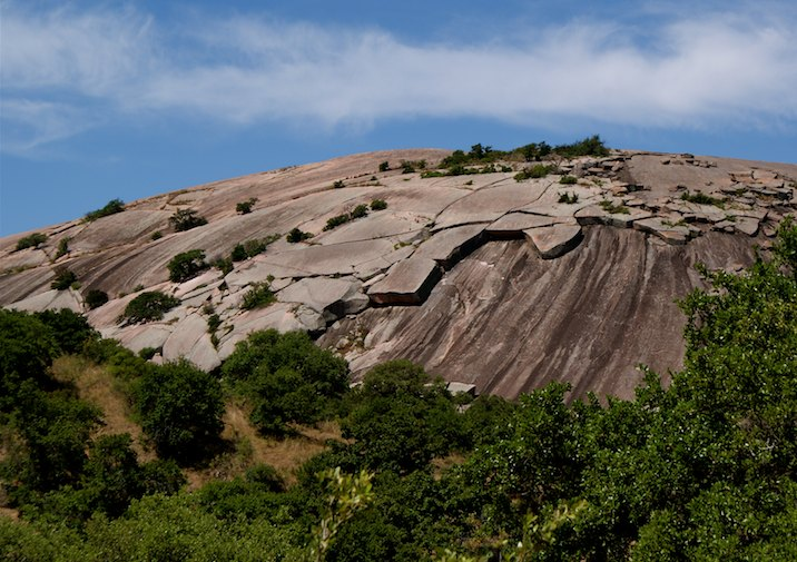 Enchanted Rock State Natural Area in Texas.