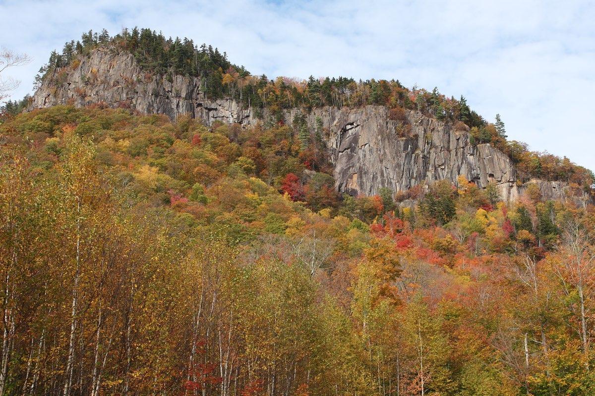 Frankenstein Cliffs in Crawford Notch State Park.