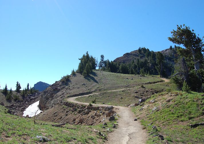 Garfield Peak Trail in Crater Lake National Park.