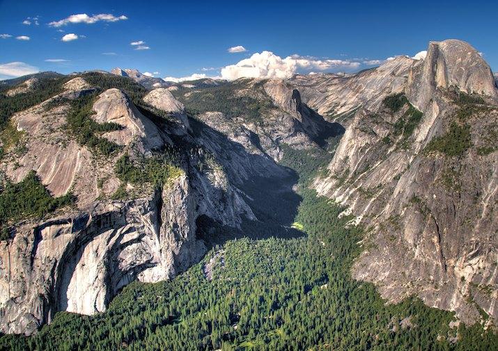 Stunning Glacier Point in Yosemite National Park.