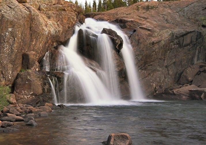 Waterfall near Glen Aulin in Yosemite National Park.